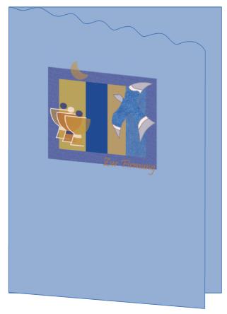 """bastelanleitung: grußkarte """"firmung"""" - grußkarten - nic bastelt, Einladung"""