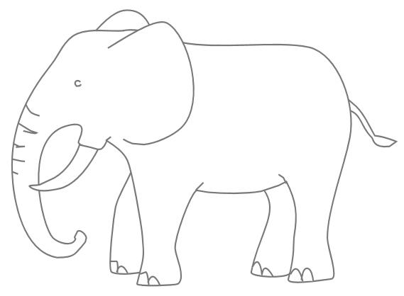 Malvorlage Elefant Einfach Directtaxizwolle