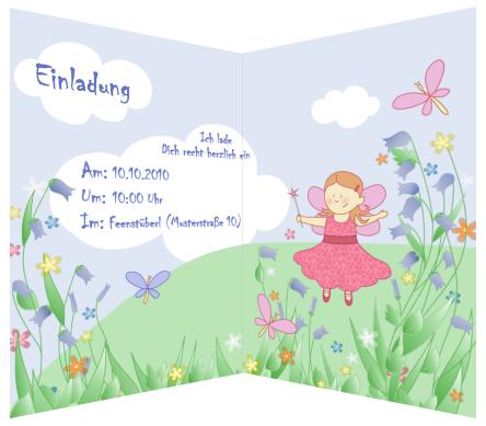 kindergeburtstag einladungen selbst gestalten kostenlos, Einladungsentwurf