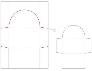 bastelanleitung kuvert selber falten gru karten nic. Black Bedroom Furniture Sets. Home Design Ideas