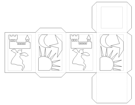 bastelanleitung laterne 4 eckig basteln nic bastelt. Black Bedroom Furniture Sets. Home Design Ideas