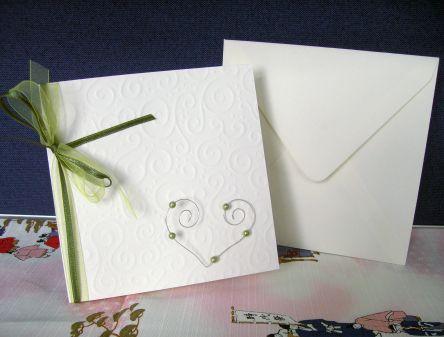 Fesselnd Bastelanleitung: Einladungskarte Zur Hochzeit Mit Drahtherz,  Einladungsentwurf