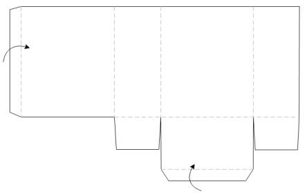 bastelanleitung papiertasche papiert te falten diverses nic bastelt. Black Bedroom Furniture Sets. Home Design Ideas