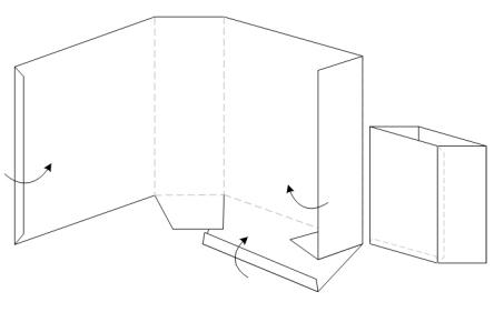 bastelanleitung papiertasche papiert te falten. Black Bedroom Furniture Sets. Home Design Ideas