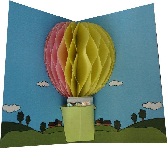 Bastelanleitung: Gutschein für eine Ballonfahrt - ein Geldgeschenk ...