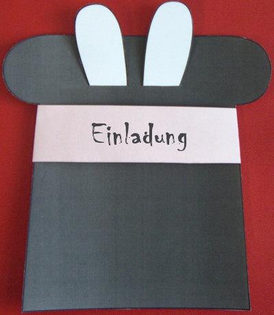 Bastelanleitung: Einladungskarte Kaninchen im Zylinder - Grußkarten ...